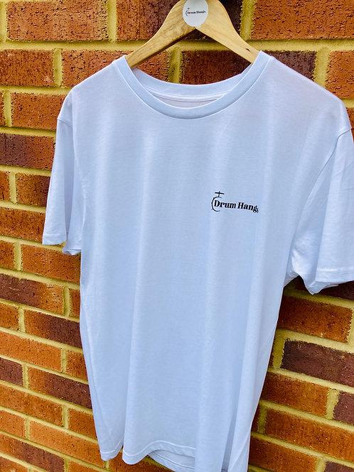 Drum Hangs White Organic Logo T-Shirt by Stanley/Stella