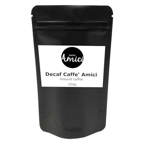 Decaf Ground Coffee 250gr -Medium Roast - Nutty aromatics