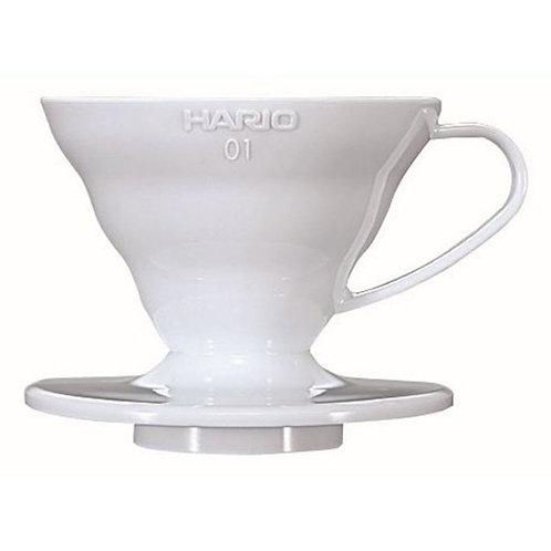 Hario Coffee Dripper V60 White Plastic