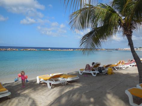 Curacao met kinderen