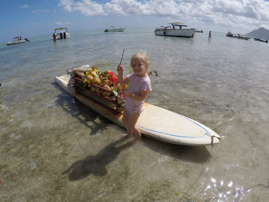 Mauritius met kinderen