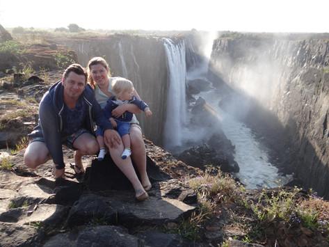 Victoria Falls Zambia met kinderen