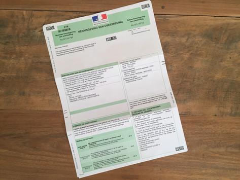 Snelheidsovertreding in Frankrijk