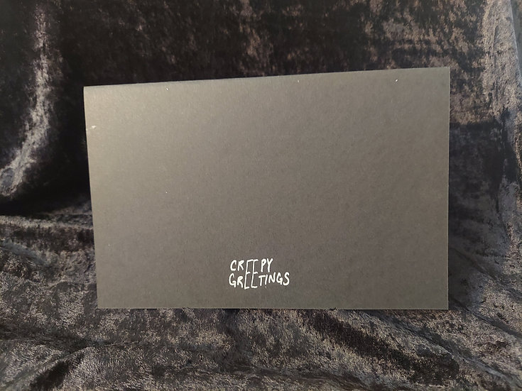 Your Custom Greeting Card Idea in Black and Silver