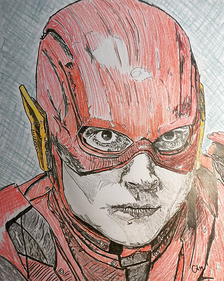 The Flash/Barry Allen as portrayed by Ezra Miller in Justice League (2017)