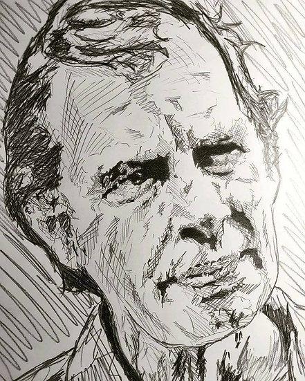 Jim Seidow, AKA Cook, The Texas Chainsaw Massacre, 1973.