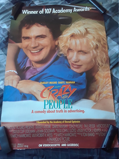 Crazy People (1990) Vintage Movie Poster
