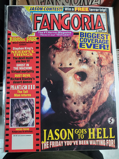 Fangoria  #125 Jason Goes To Hell coverage!