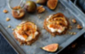 Rezept Foto - Walnuss Feigen Tartelettes mit Karamellsauce