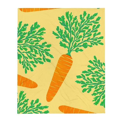 Carrot Pattern Throw Blanket