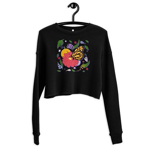 Monarch Butterfly Crop Sweatshirt