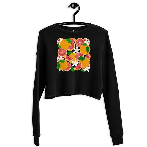 Grapefruit Party Crop Sweatshirt