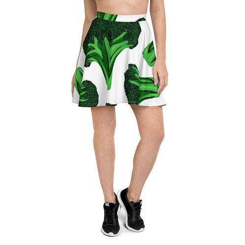 Broccoli Print Skirt