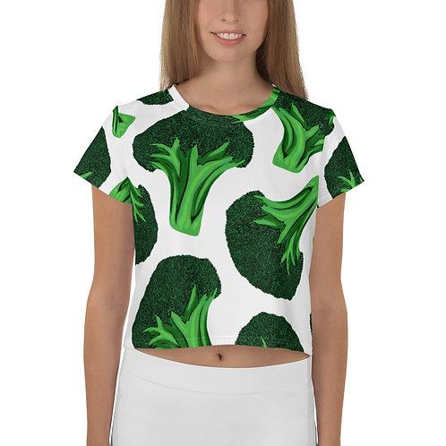 Broccoli Print Crop Tee