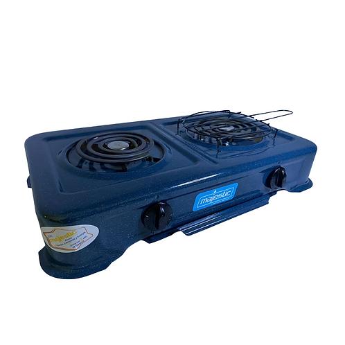 Estufa eléctrica de mesa de 2 quemadores