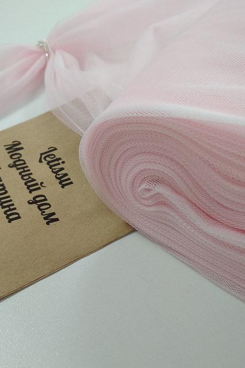 Фатин стрейч, розовый кварц