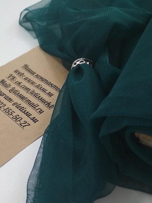 Фатин стрейч, бриллиантовая зелень