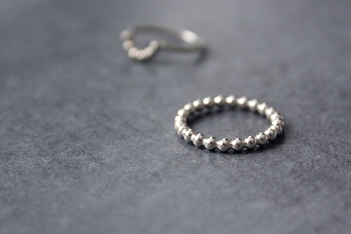 Kugelring 925/-Silber