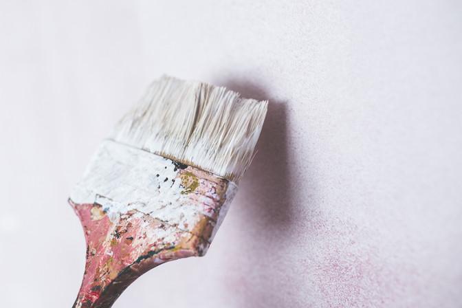 WF Community Hub - painting the outside wall
