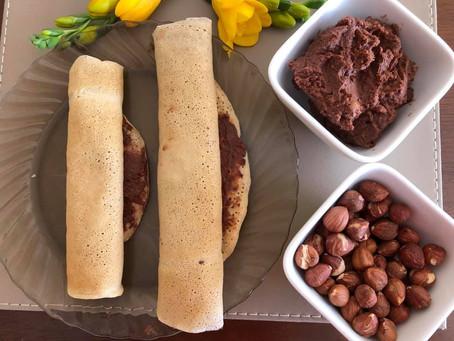 PANCAKES with homemade healthy HAZELNUT SPREAD 🥞😍🌰🐿