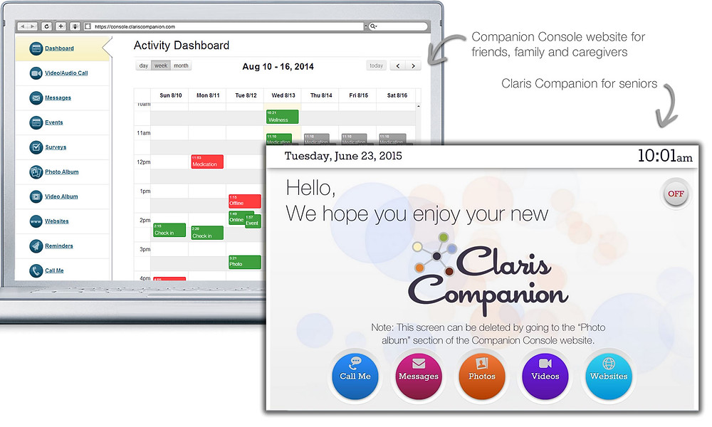 Claris Companion tablet a helps provide care remotely.