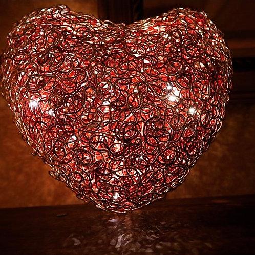 Großes beleuchtetes Herz