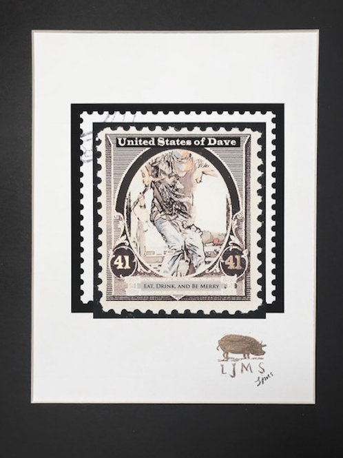 """Dave Dances 2"" Stamp Limited Edition Print #1"