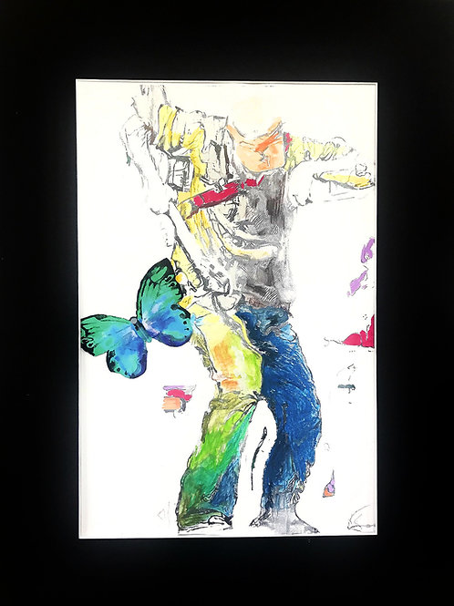 """""""A Dave of Many Colors"""" SOLD Original Hand Colored Print (One-of-a-Kind)"""