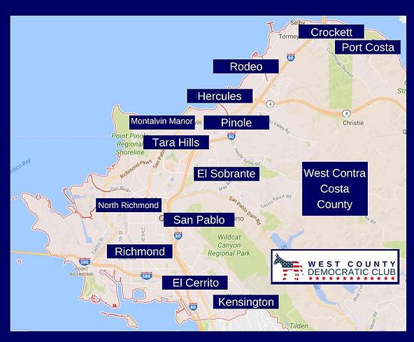 West County Democratic Club, West Contra Costa County