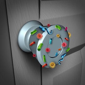 Virus Transmission via a door handle.