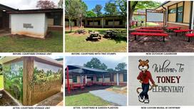 Georgia United Foundation Provides Makevover to Toney Elementary School