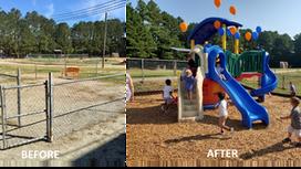Georgia United Foundation Provides $12K Playground to Camp Creek Elementary