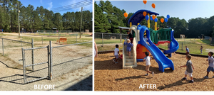 Camp Creek Before and After Playground
