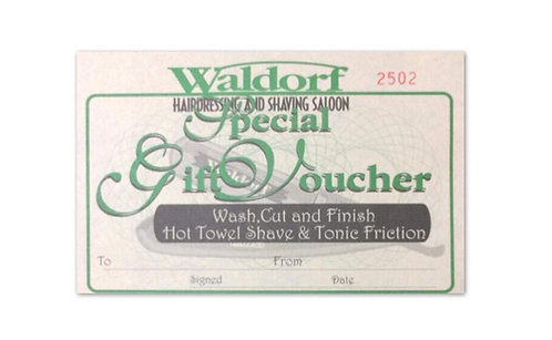 Wash, Cut and Finish Hot Towel Shave & Tonic Friction Gift Voucher