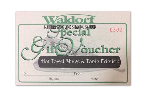 Hot Towel Shave & Tonic Friction Gift Voucher