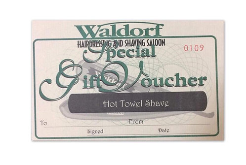 Hot Towel Shave Gift Voucher