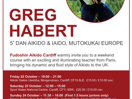 Return of Greg Habert: 4-Day Fudoshin Aikido Event!