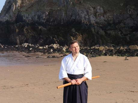 Aiki on the beach!