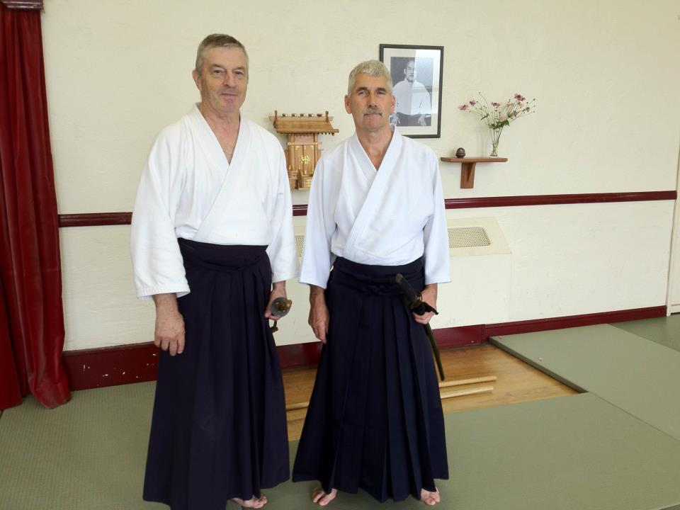 Norman Evans (Left) and Sensei Bernard Harding (Right)