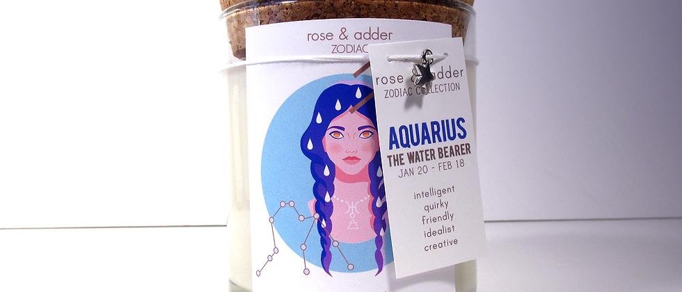 Aquarius Astrology Candle