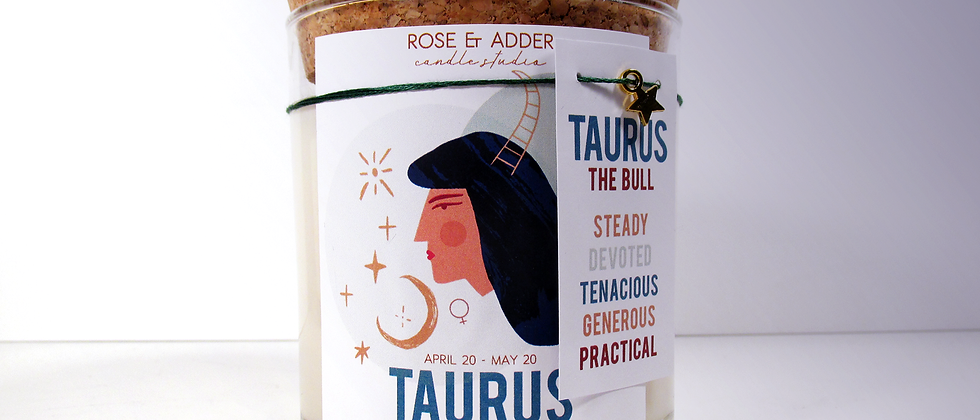 Taurus Astrology Candle
