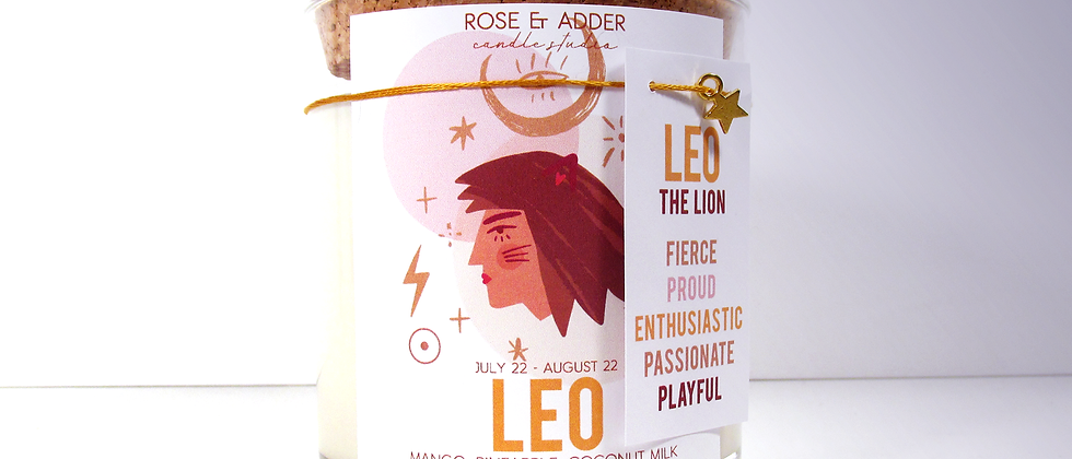 Leo Astrology Candle