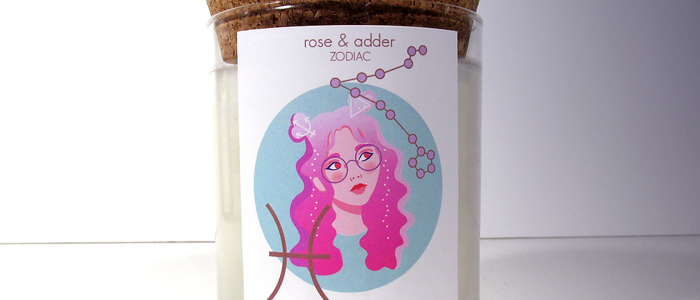Pisces Astrology Candle