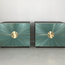 RUNE BED SIDES SEA GREEN