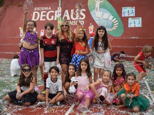 Confira algumas fotos da Folia de Carnaval do Degraus de Ensino