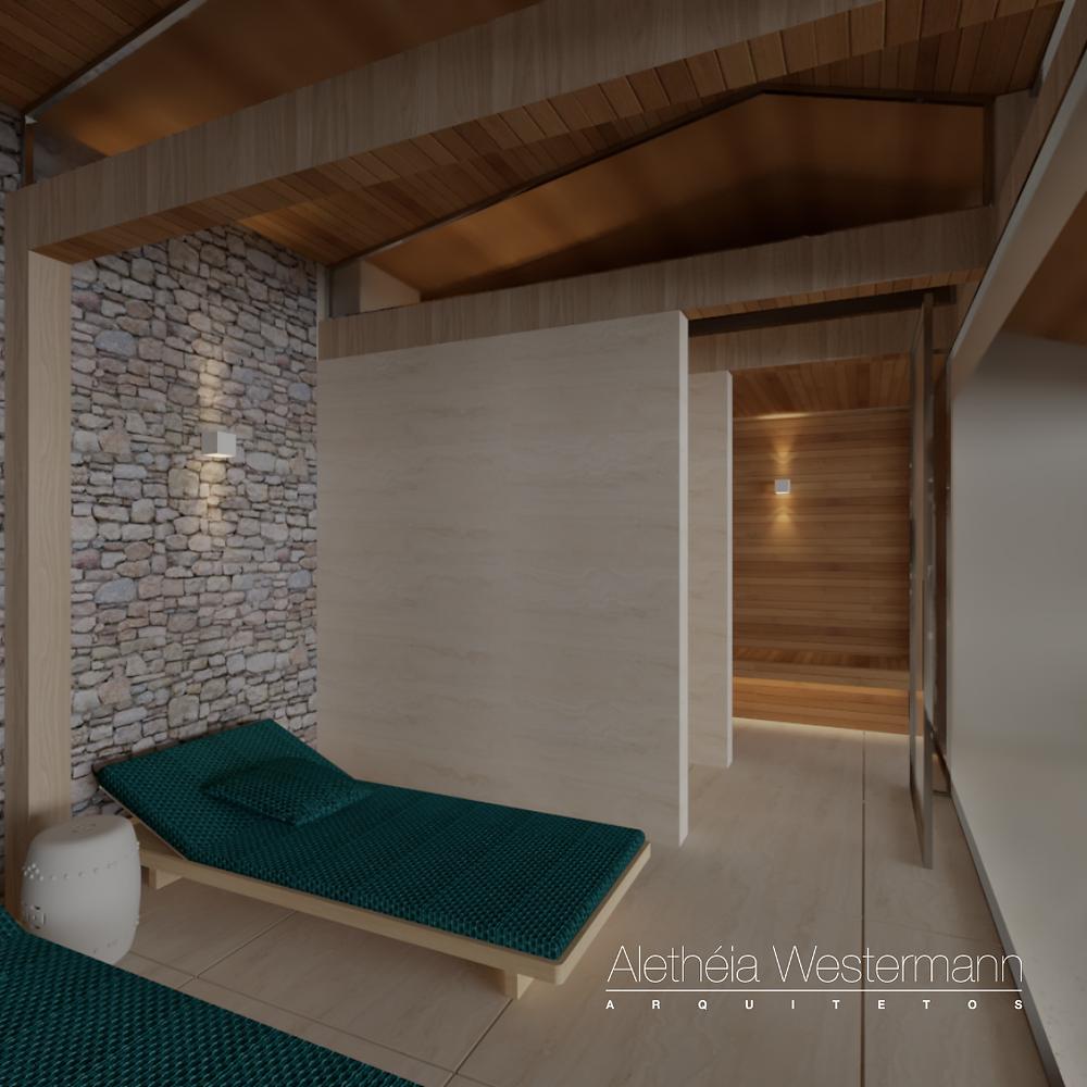 Sauna projetada pela arquiteta Aletheia Westermann