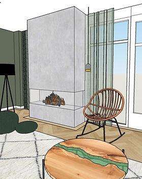 Interieur woonkamer Vught