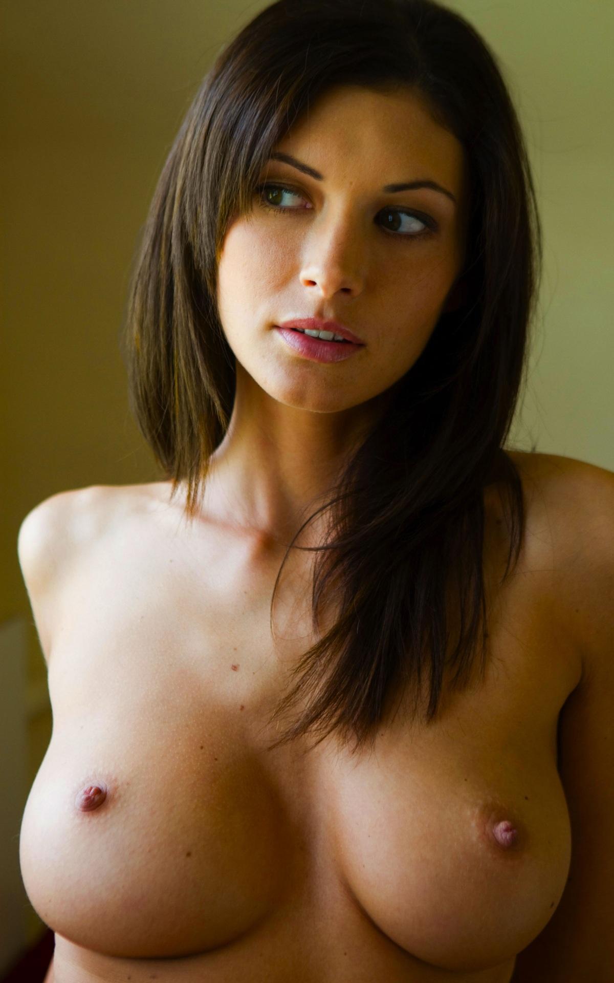 Natural and perky tits