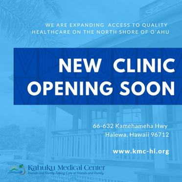 KMC Will Open Haleiwa Clinic February 2021