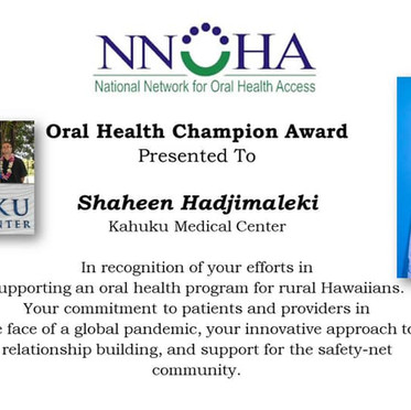NNOHA Honors KMC Dental Clinic Manager with National Award